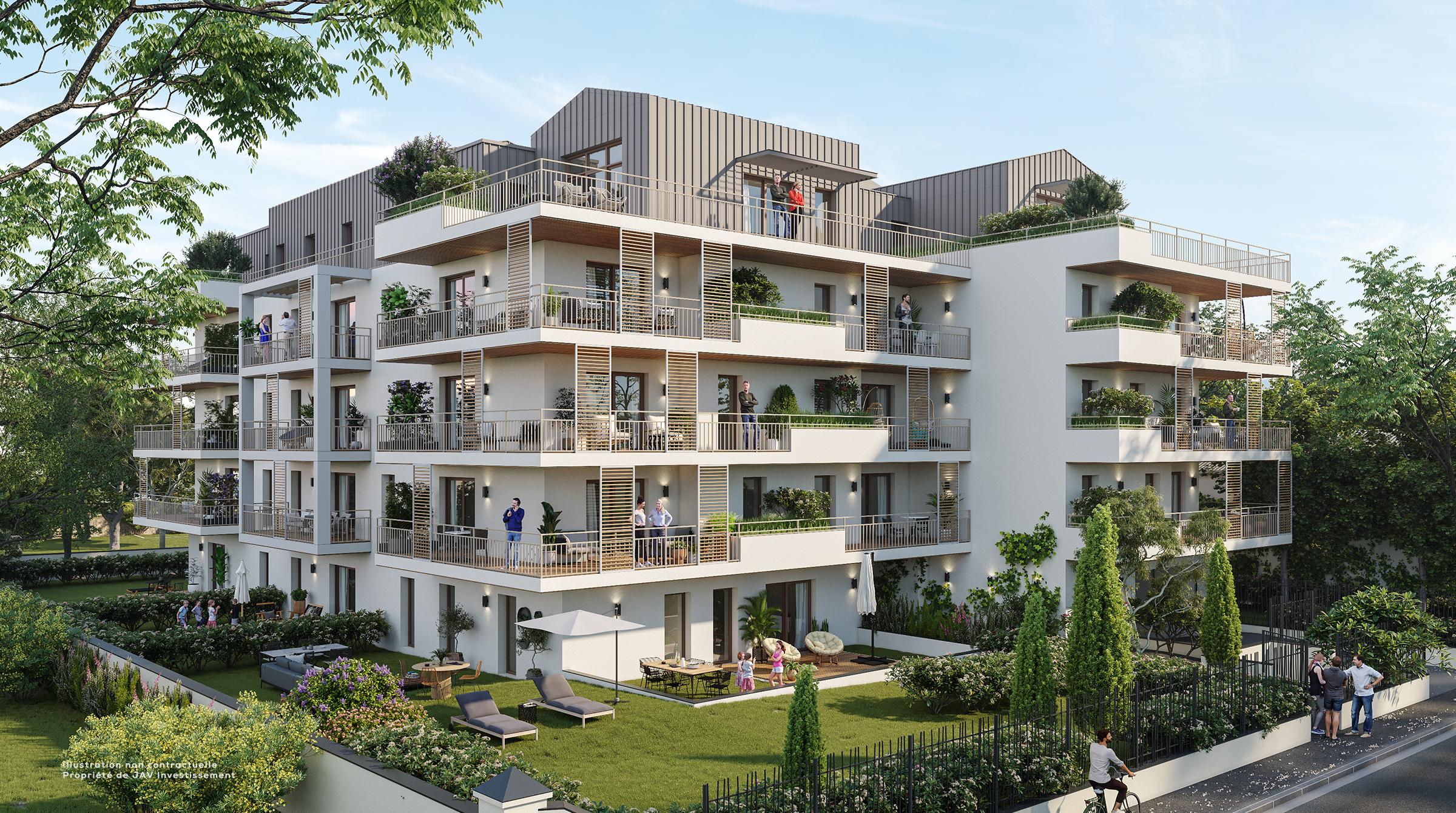 Les Patios de Claire Marseille 8ème - programme immobilier par JAV investissement